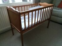 Crib, mattress & bedding