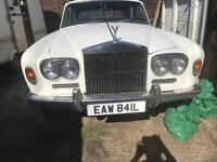 Classic White Rolls Royce Silver Shadow 1