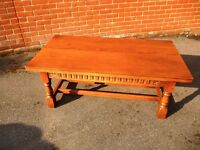 OLD CHARM LARGE COFFEE TABLE, VERY GOOD CONDITION