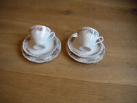 tea cup, saucer, side plate £2.50