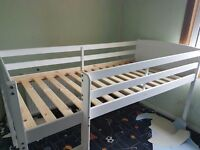 2 x white cabin beds