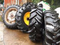 tractor wheels tyres digger dumper