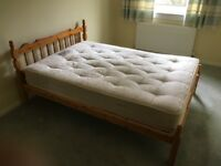 FREE Pine double bed and mattress.