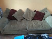 Two, 4 seater sofas