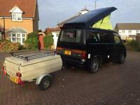 Mazda bongo camper van professional conversion full side kitchen rock roller bed 4 berth 2.5td