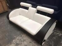 White and black sofa