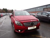 MERCEDES-BENZ B CLASS B180 CDI BlueEFFICIENCY SE 5dr Auto (red) 2012