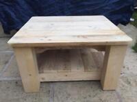 Handmade rustic table