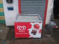 Commercial ICE CREAM freezer CHEST DISPLAY FREEZER for restaurant and shop