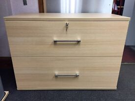 Side Filer, Finished In Light Oak. 1000mm Width x 720mm Height x 500mm Depth. 2 In Stock.