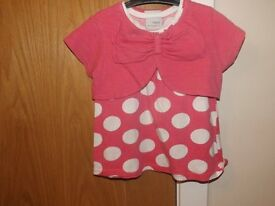 Girls Next Top with Shrug 12-18 Months