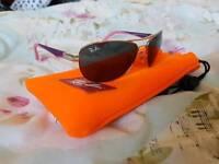 Kids Rayban Aviator sunglasses pink/purple