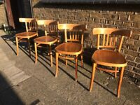 4 x Bentwood dining chairs