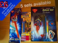 Superman sticking fillers, stationary set, glow stick and Pez, BARGAIN!