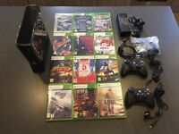 ​ Xbox 360s 250gb with 12 games and 2 rechargeable wireless controllers