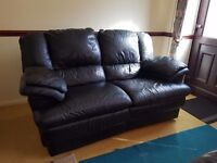 Leather recling 2 seater sofas