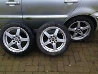 "4x100 15"" Alloys. VW fitment. 195/50 r15"
