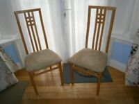 Set of 6 High back dining chairs in good condition