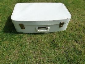 Vintage White Suitcases
