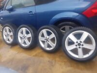 Audi alloy wheel 17 inch set of 4 with tyers