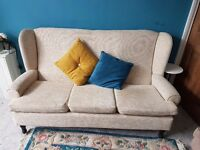 Highbacked 3 seater sofa