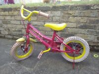 Apollo Honey Bear Bike - FOR SALE - Red/Pink/Yellow- ages 4 and up - £6