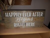 9 Wedding Sign or banners for Rustic/Vintage Weddings