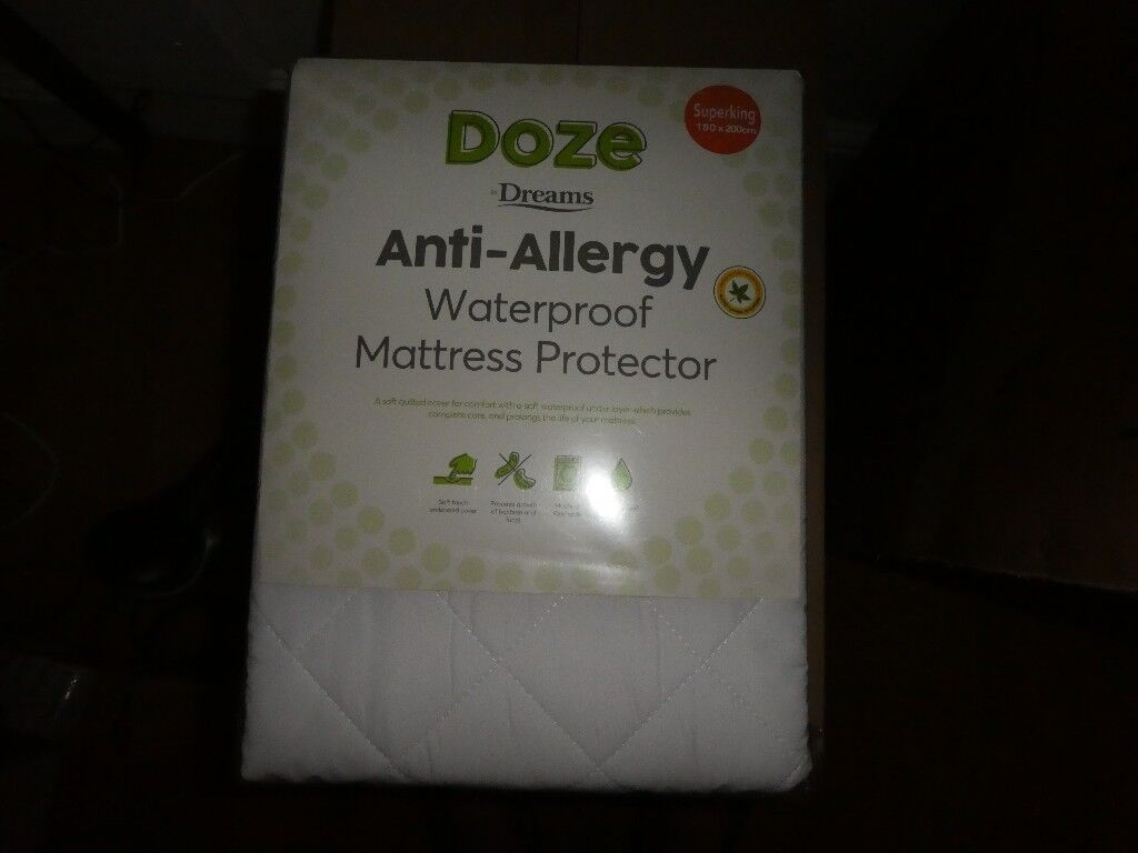 SuperKing Size Mattress Protector. Doze by Dreams. Brand New.