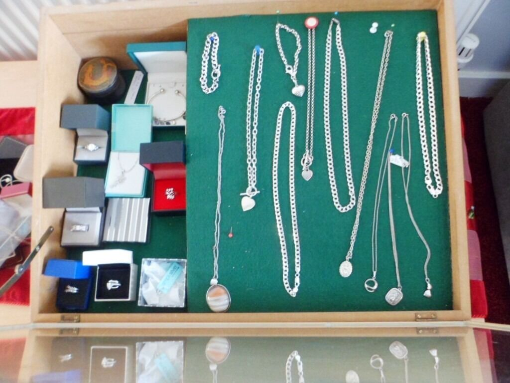silver jewellery, mixed lot, all 925 silverin Exeter, DevonGumtree - silver chains mainly mens all 925 marked,ladies chains,bracelets and silver rings. may split, but prefer to sell as job lot