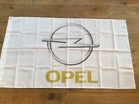 Opel manta calibra Astra corsa vectra VXR workshop flag banner ex display showroom