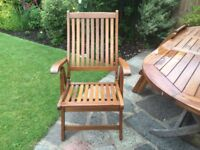 Wooden Garden Recliner Chairs with Arms.