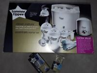 New Tommee Tippee electrc steriliser and essentials starter kit