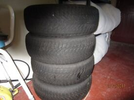 Winter Tyres and steel rims for Peugeot/ Citroen