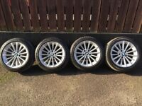 BMW Series 3 Alloy Wheel rims with good condition tyres