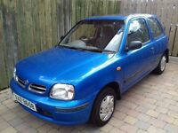 1998 Nissan Micra 1.0 Ally With No MOT. New Tyres. Starts & Drives Well. MOT Expired.