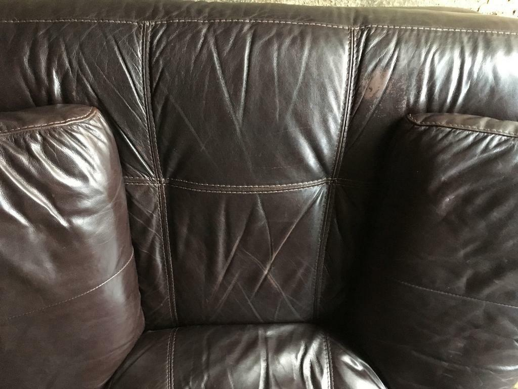 FREE Single leather electric reclining arm chair