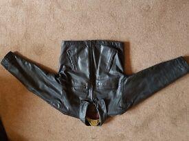 Black Vintage leather jacket good condition