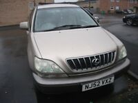 Lexus Rx300 six months mot, clean luxury car