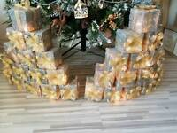 XMAS PRESENT LIGHT UP STACKS IN GOLD AND SILVER WEAVE.. 2 AVAILABLE