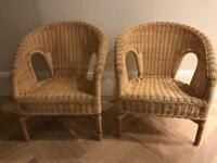Children's wicker chairs