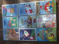 9 CHILDREN'S DVD'S INCLUDING 3 PEPPA PIG ONE'S