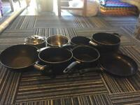 13 pots and pans for sale