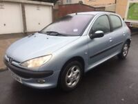 PEUGEOT 206 1.4 HATCHBACK/ LOTS OF PAPERWORK / 2 KEYS/ LOVELY DRIVE/ ONLY £795