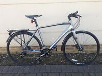 Boardman Team Pro Hybrid Bike with extras in excellent condition, ideal for commuting