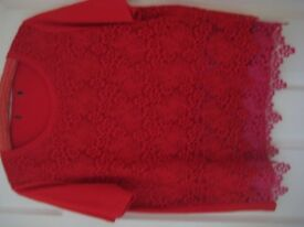 NEW EX-M&S LACE TOP - SIZE 16