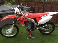 Honda crf 450 x 2014 only low hours £4195