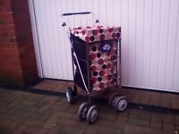 Large collapsable shopping trolley