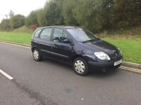 Automatic Renault Scenic very low miles ,long mot ,first to view will buy,px welcome