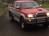 Mitsubishi L200 4x4 life model.new tyres.great pickup.low miles...navara,shogun,defender etc