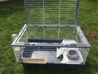 Guinea pig/rabbit cage with accessories and extras. exc. cond.